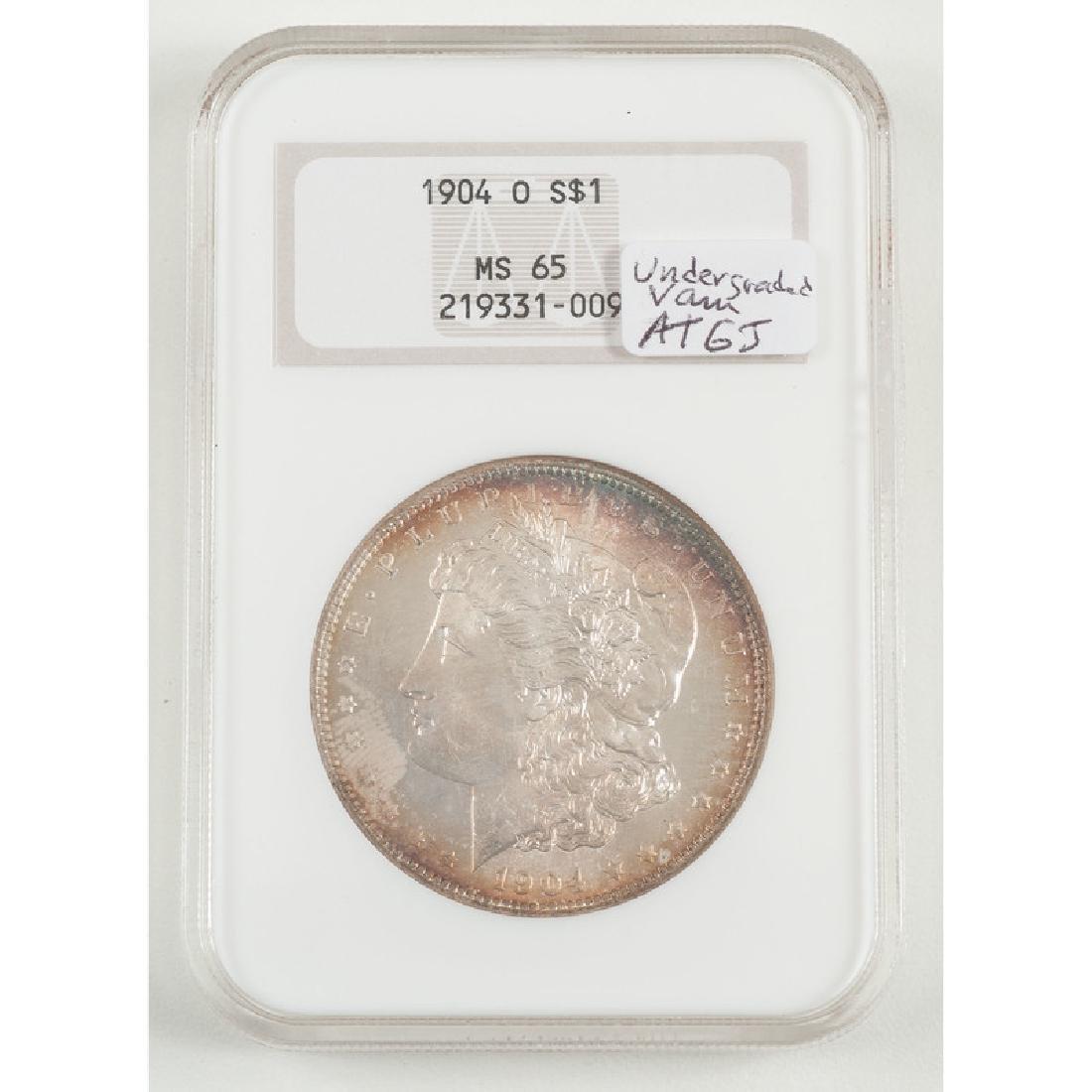United States Morgan Silver Dollar 1904-O, NGC MS65