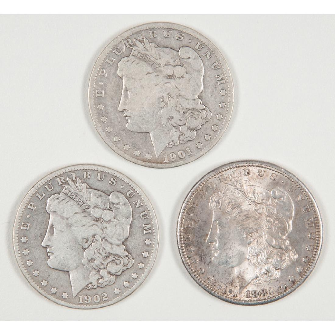 United States Morgan Silver Dollars 1881-S, 1901-O,