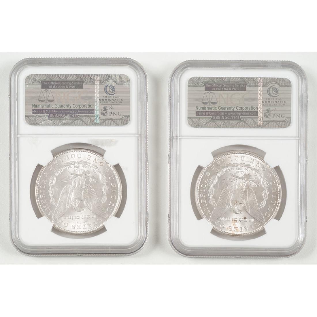 United States Morgan Silver Dollars 1888 NGC MS62, 1889 - 2