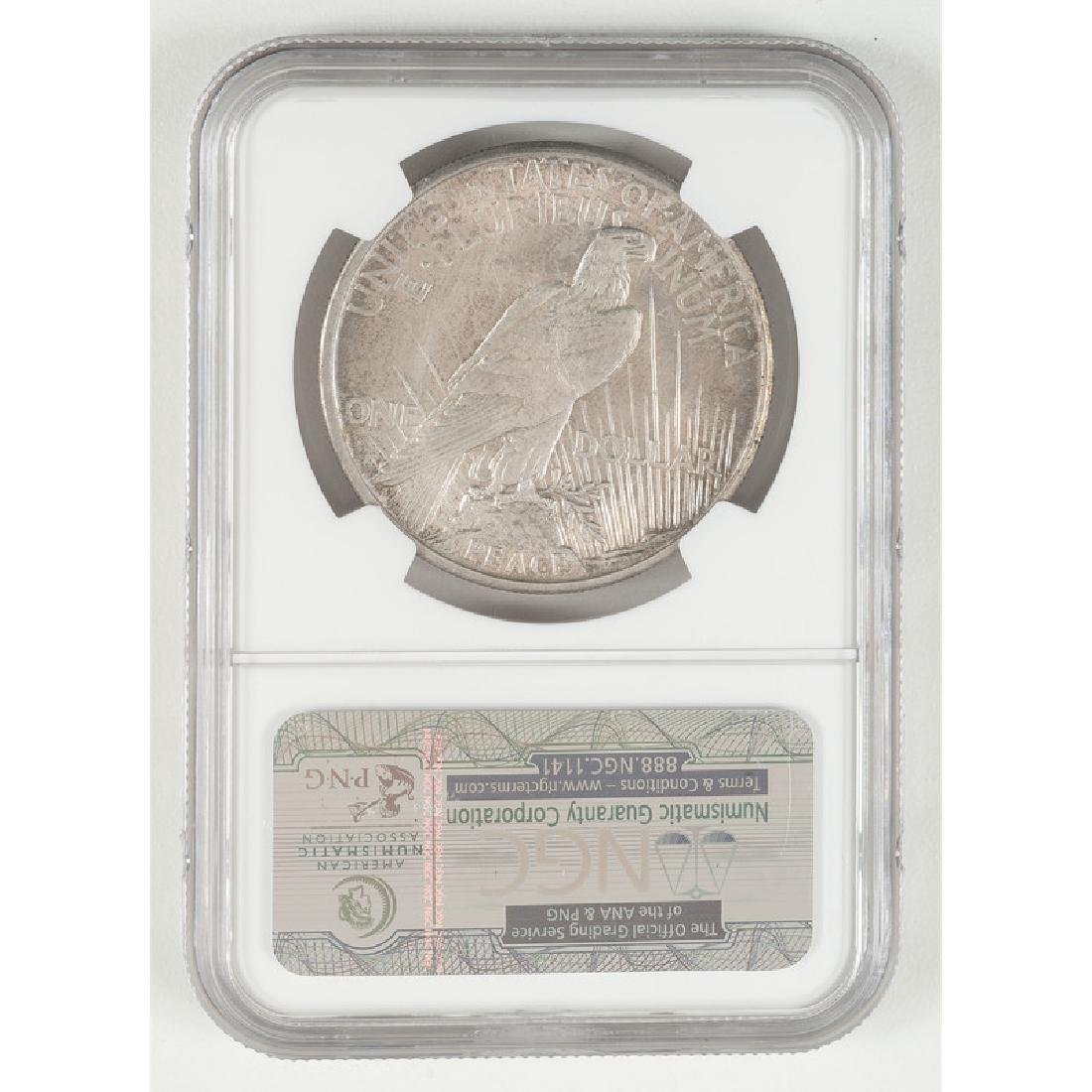 United States Peace Silver Dollar 1921, NGC UNC Details - 2