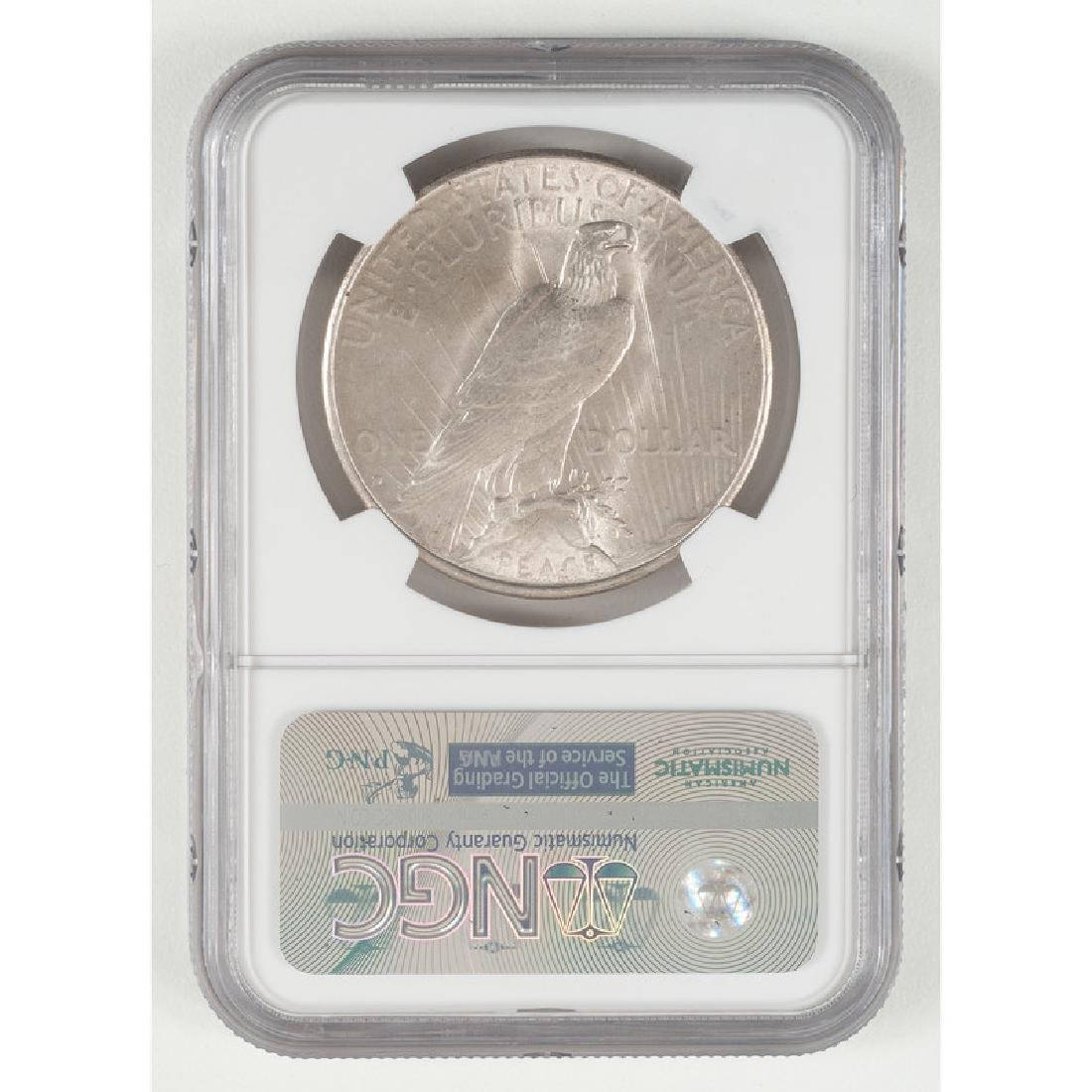 United States Peace Silver Dollar 1934-D, NGC BU - 2
