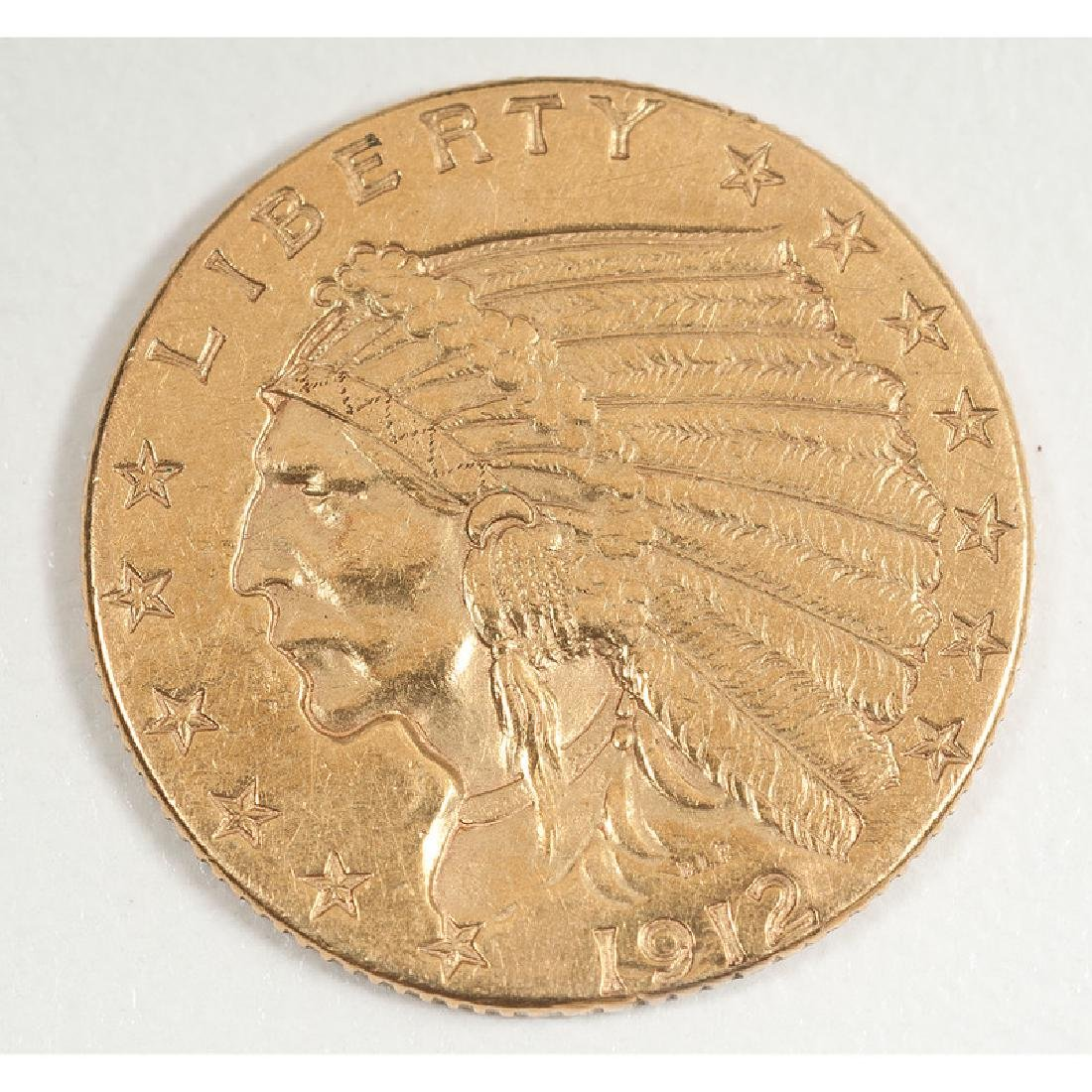 United States Indian Head $2.50 Gold Coin 1912