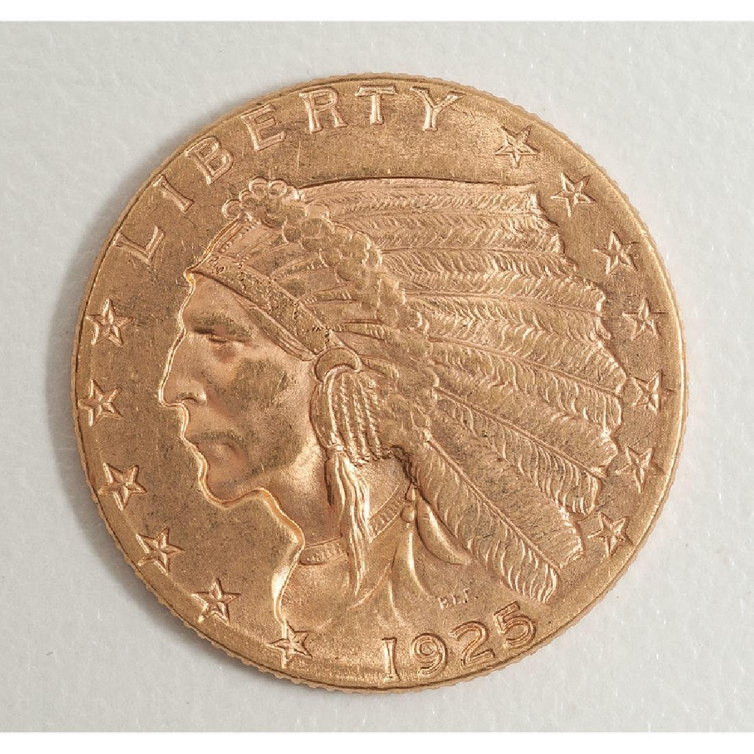 United States Indian Head $2.50 Coin 1925-D