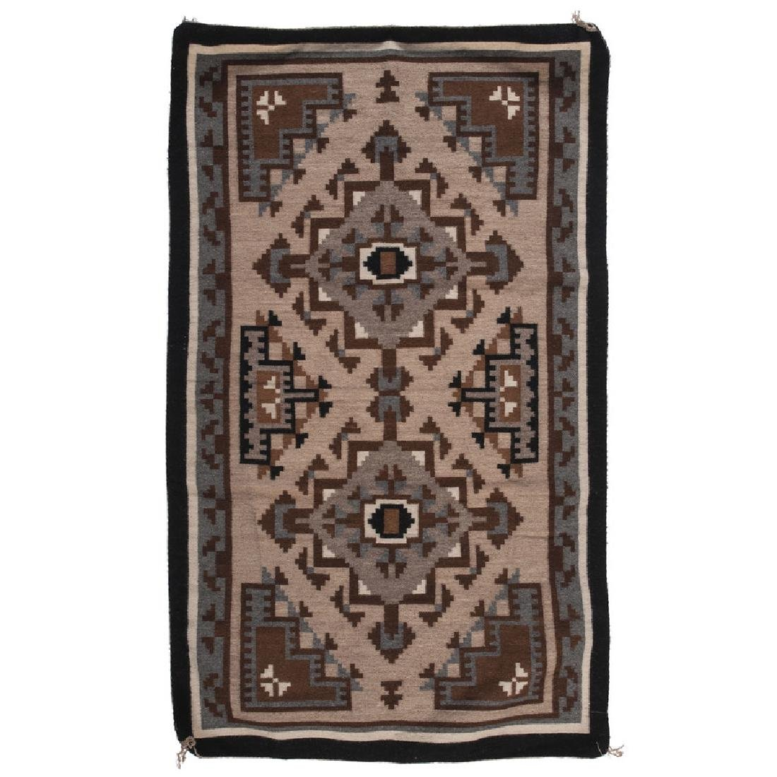 Navajo Two Grey Hills Weaving / Rug, From the