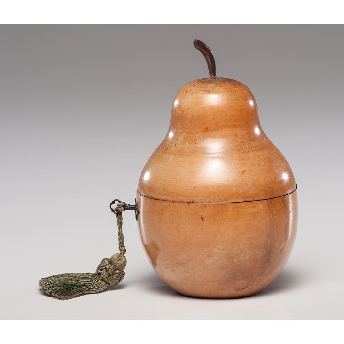 Fruitwood Pear Tea Caddy - 3