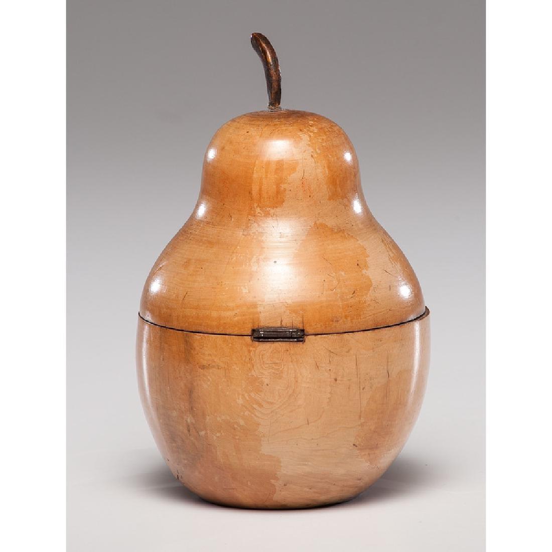 Fruitwood Pear Tea Caddy - 4
