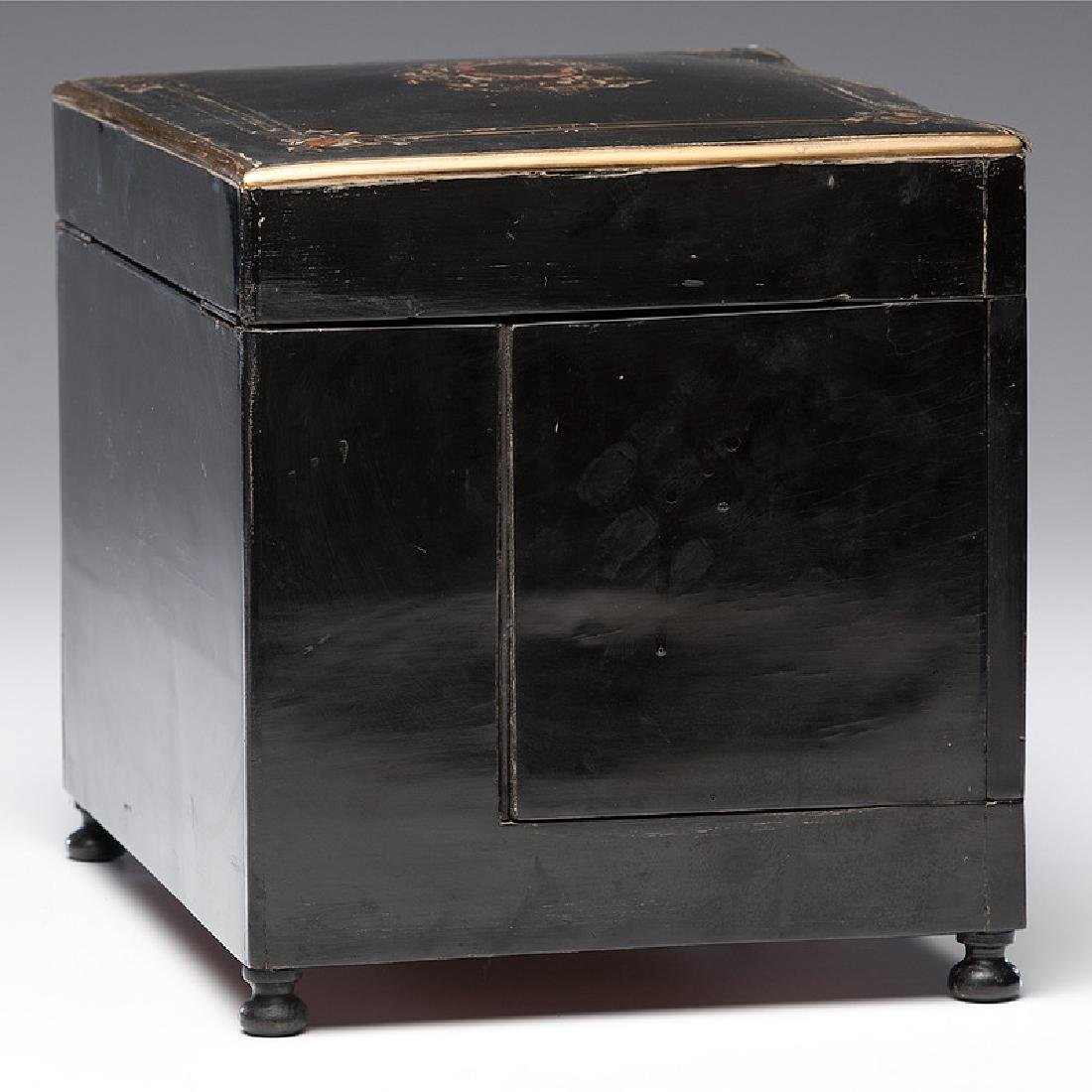 Napoleon III Boulle Tantalus with Etched Glass - 6