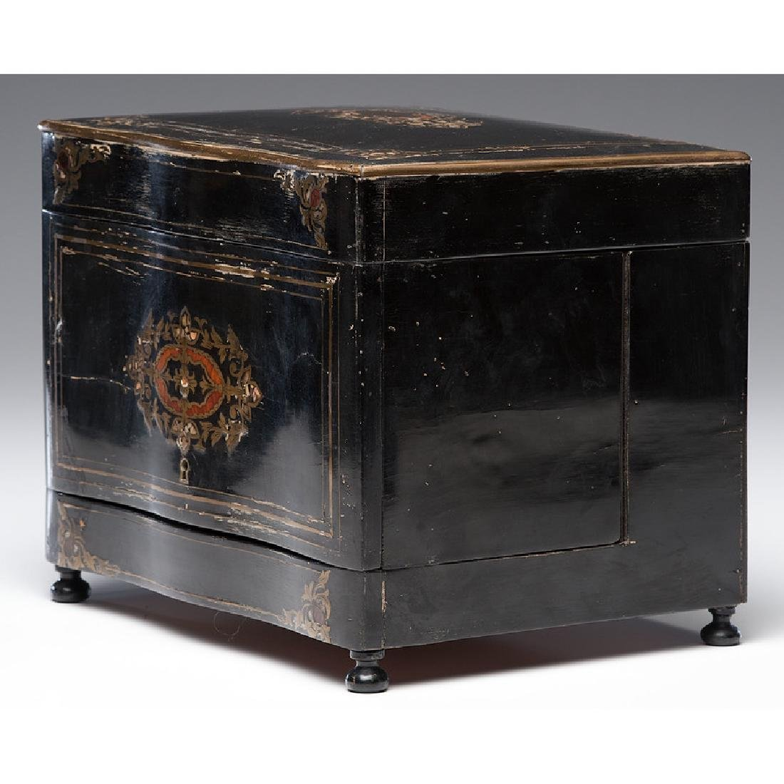 Napoleon III Boulle Tantalus with Etched Glass - 7