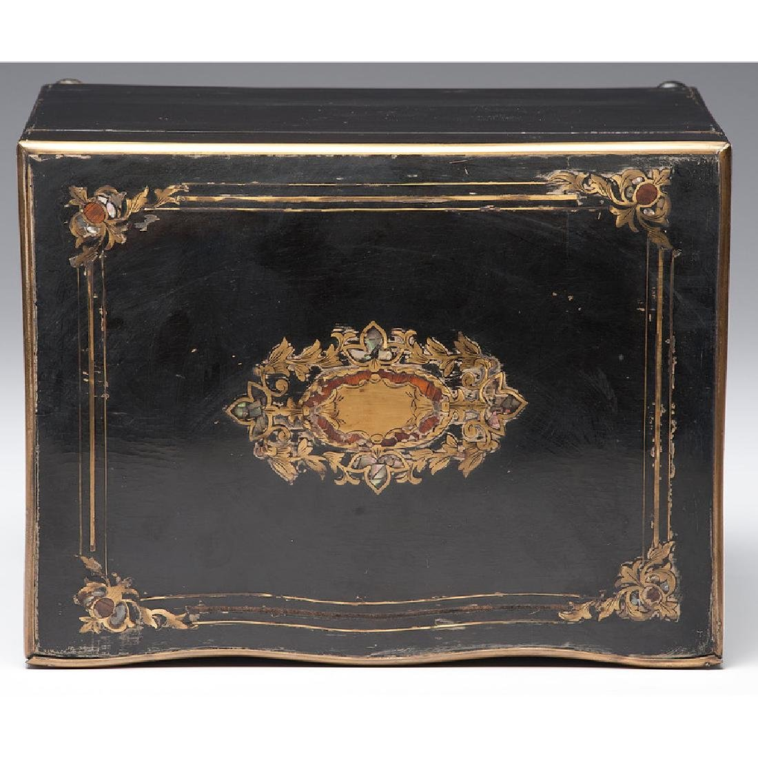 Napoleon III Boulle Tantalus with Etched Glass - 8