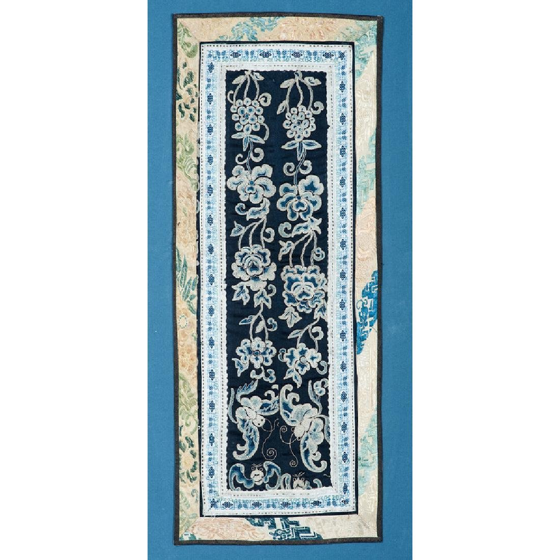 Silk Embroidered Robe Cuff