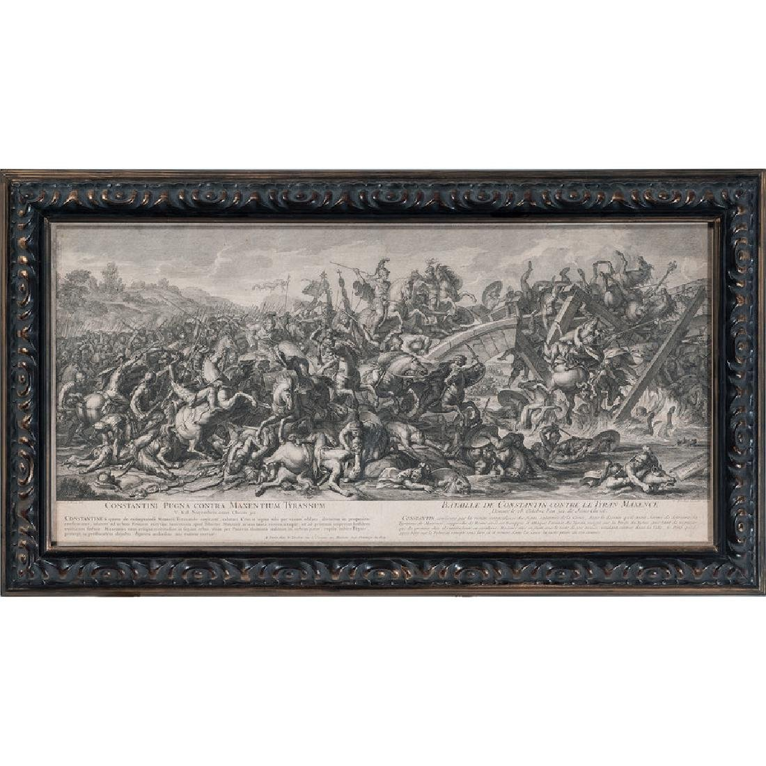 Battle of the Milvian Bridge Engraving