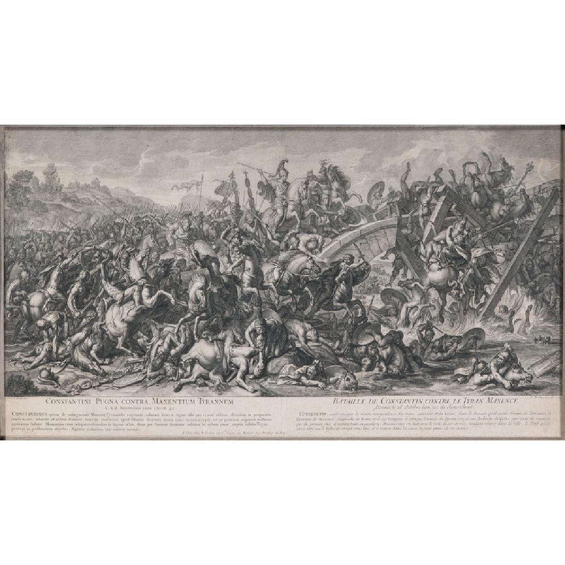 Battle of the Milvian Bridge Engraving - 2