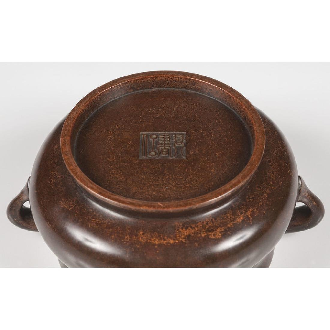 Qing Bronze Censer - 4