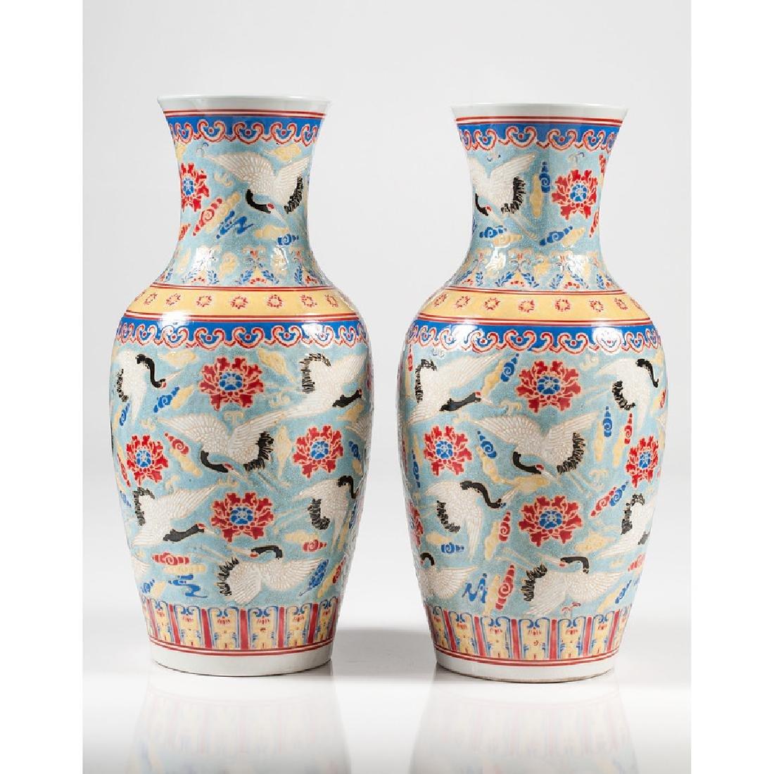 Chinese Polychrome Vases