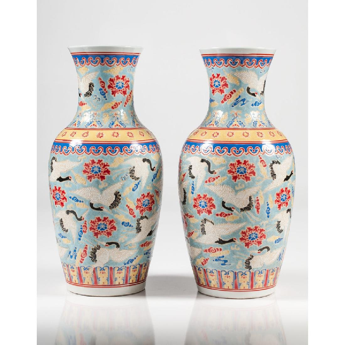 Chinese Polychrome Vases - 2