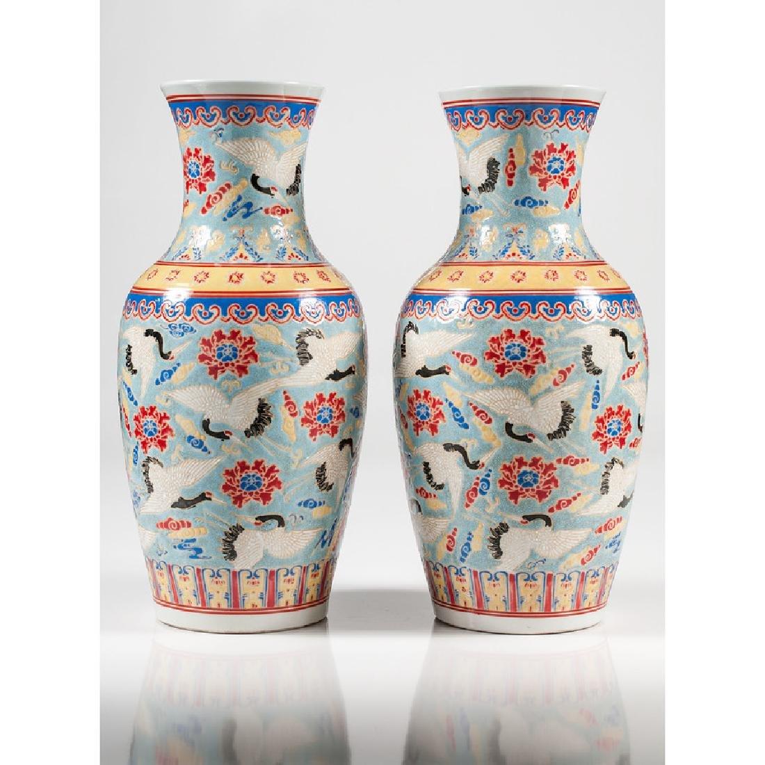 Chinese Polychrome Vases - 3