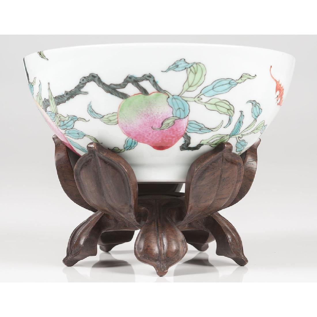 Chinese Famille Rose Nine-Peach Bowl