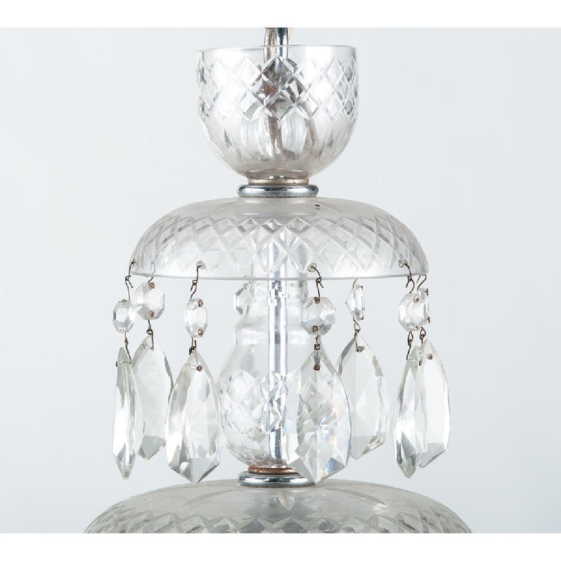 Pressed Glass Chandelier - 4
