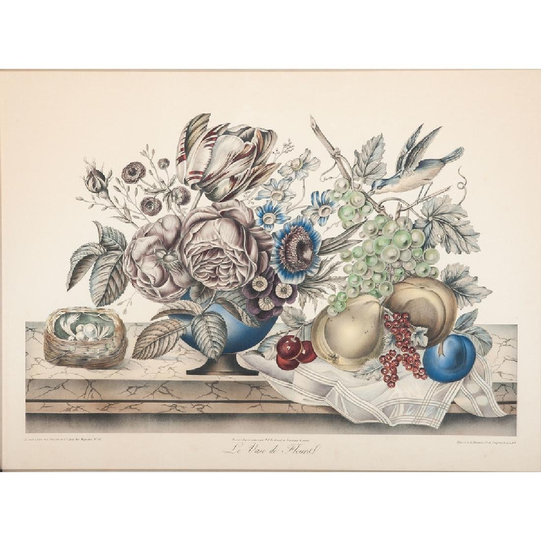 French Still Life Lithograph