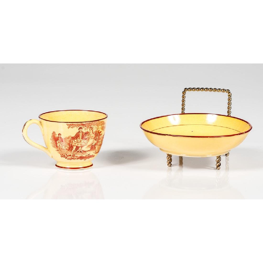 Canary Transfer Cup and Saucer