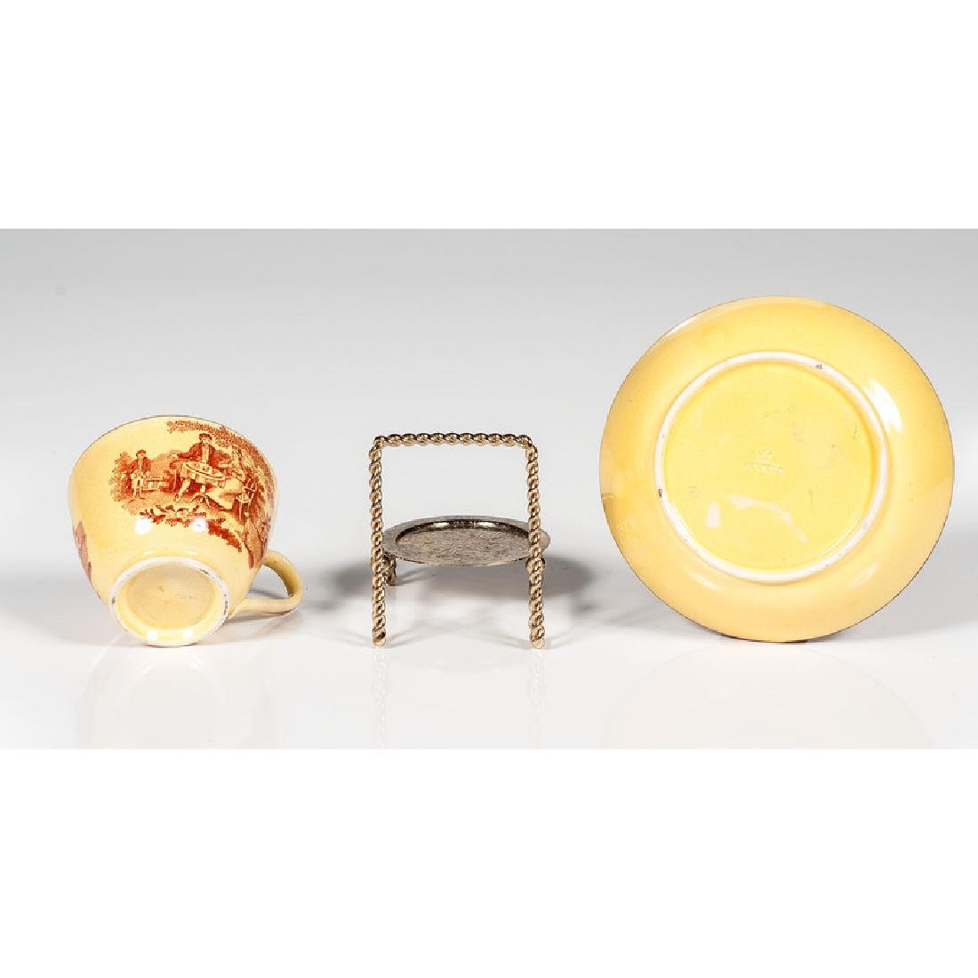 Canary Transfer Cup and Saucer - 3