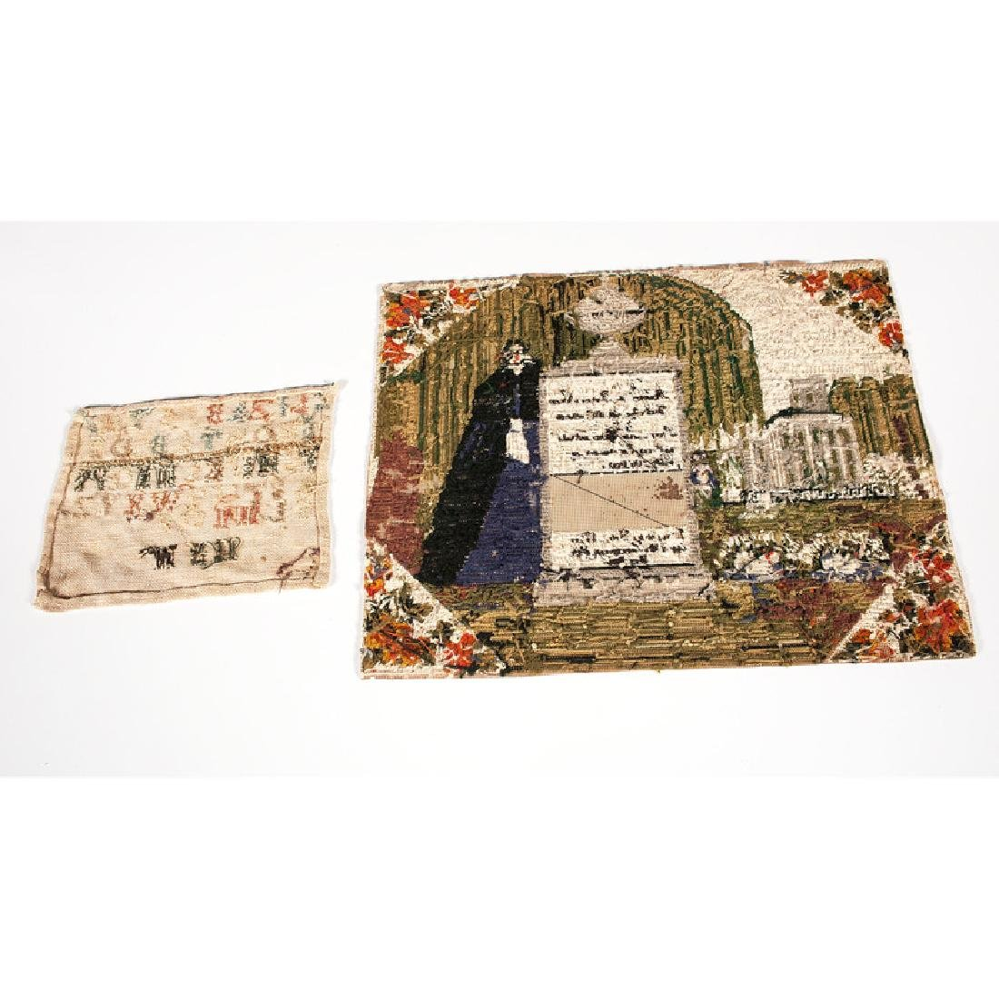 Memorial Sampler and Sampler Fragment - 2
