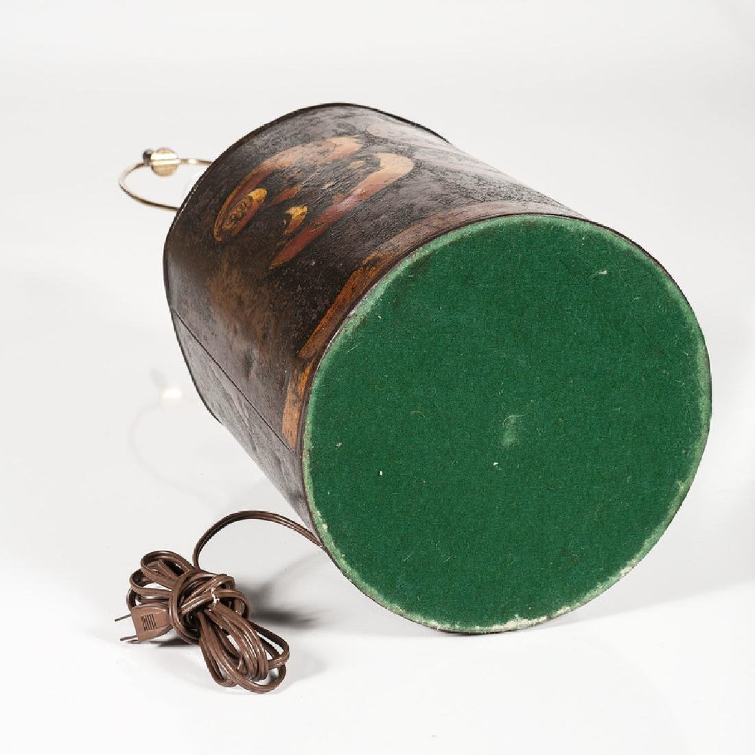 Toleware Tea Canister Lamp - 5