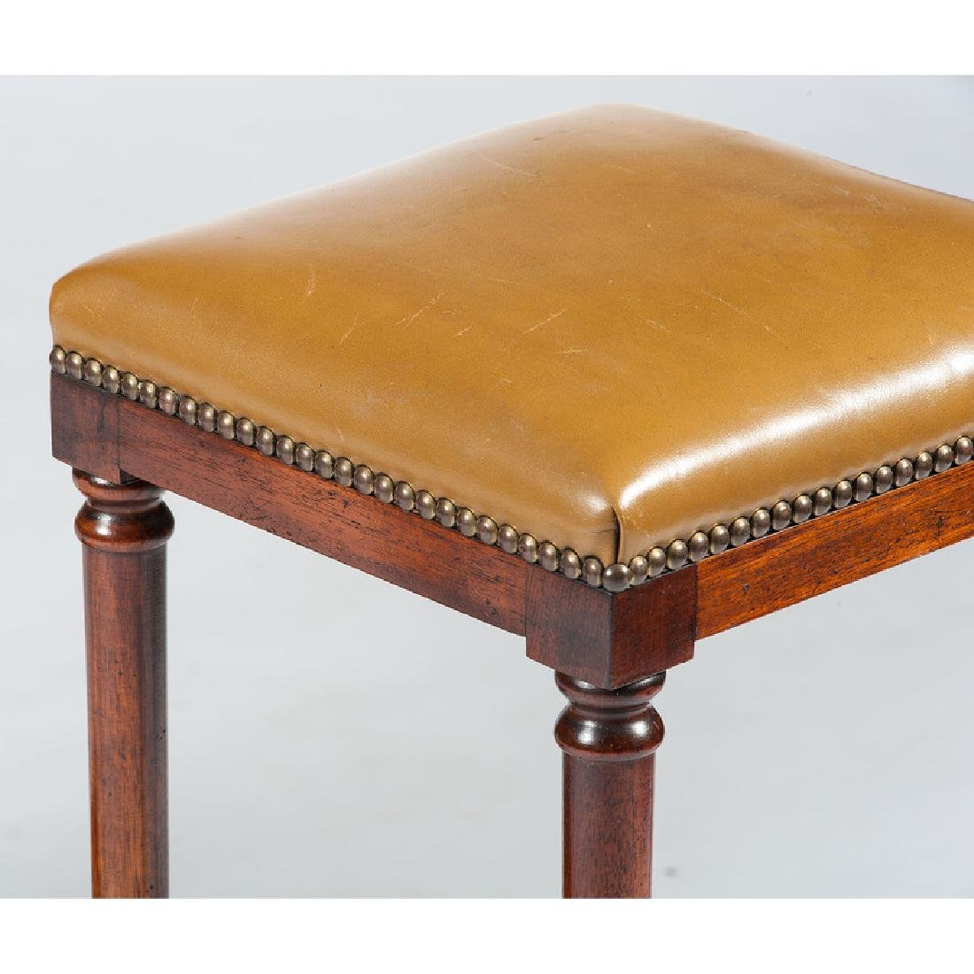 English Mahogany Desk with Stool - 2