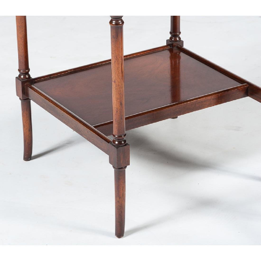English Mahogany Desk with Stool - 4