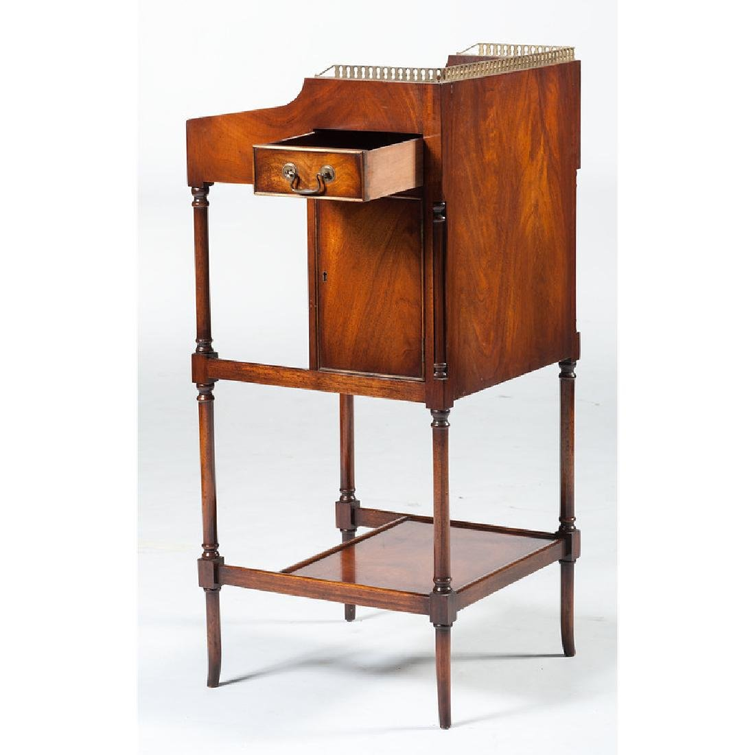 English Mahogany Desk with Stool - 6