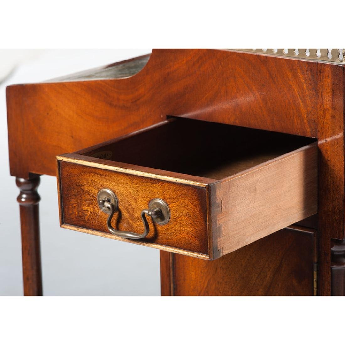 English Mahogany Desk with Stool - 7
