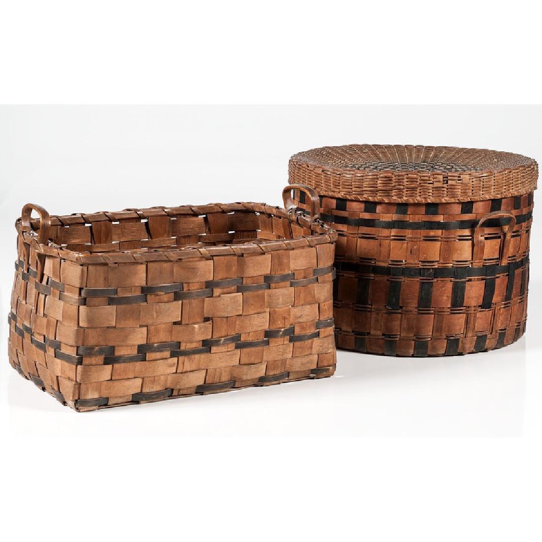 Polychrome Woven Baskets