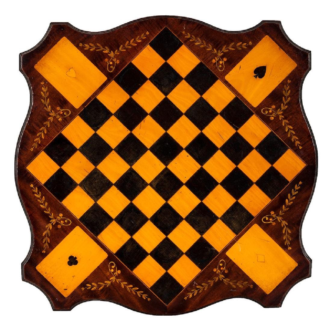 Inlaid Wooden Game Board