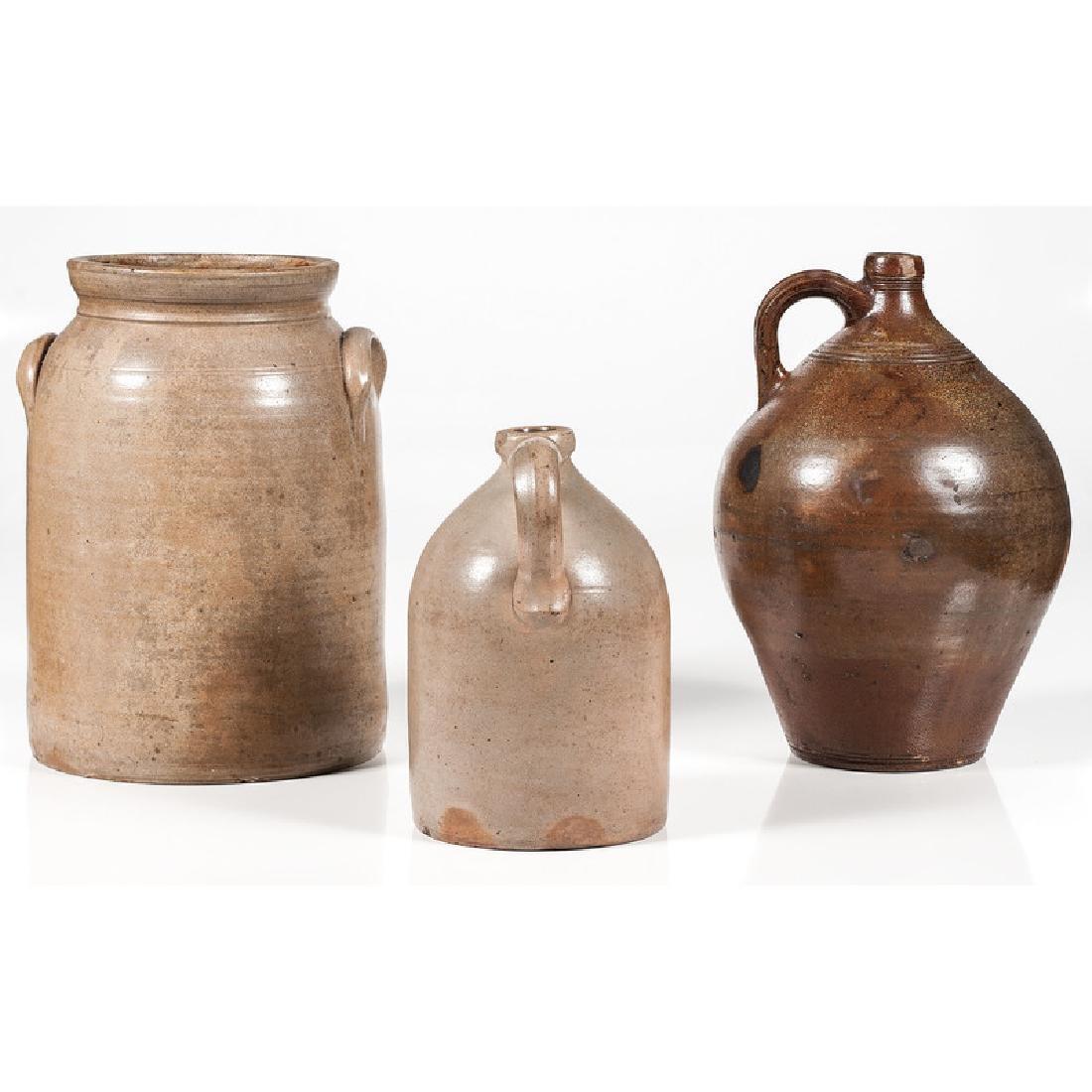 Stoneware Jugs and Crock - 3
