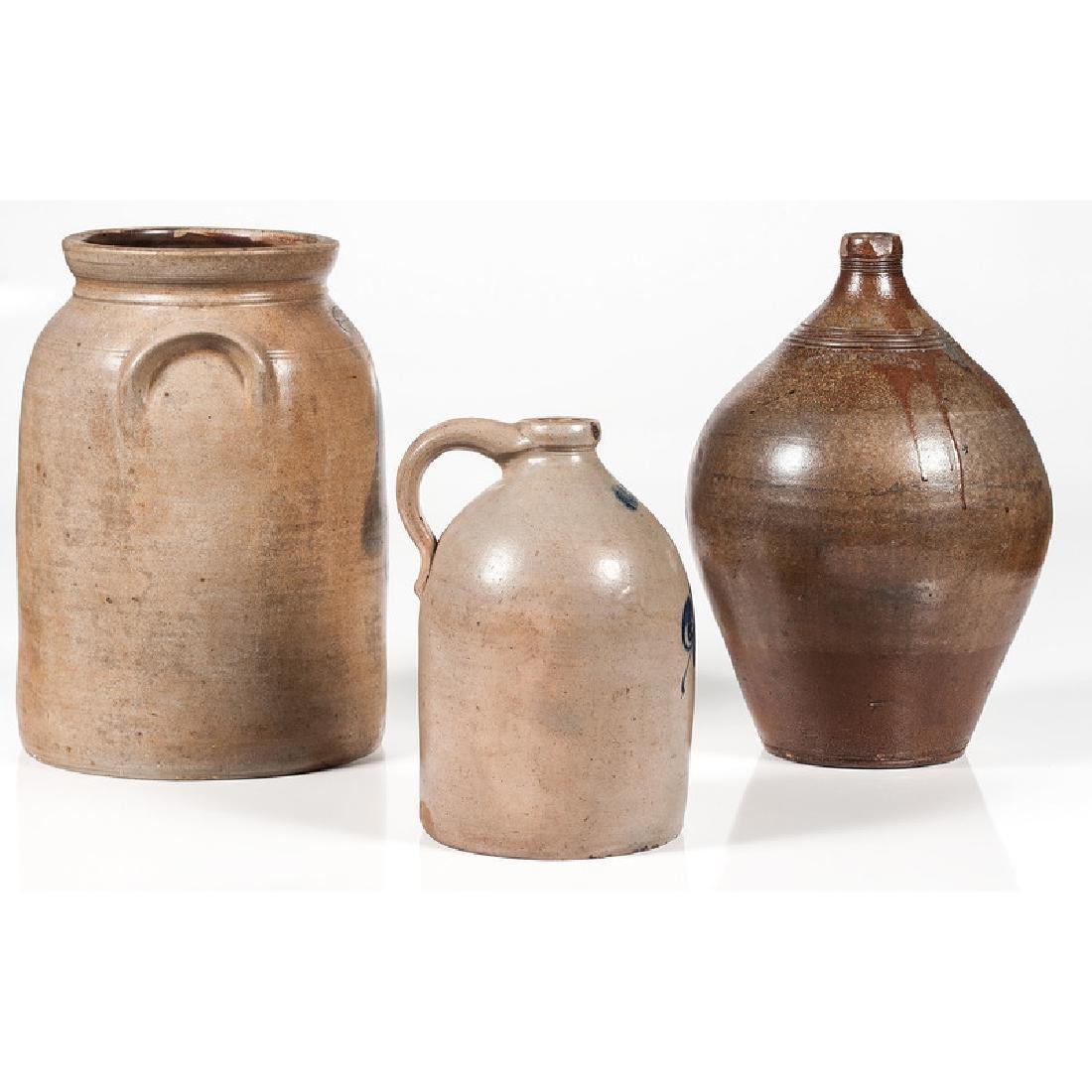 Stoneware Jugs and Crock - 4