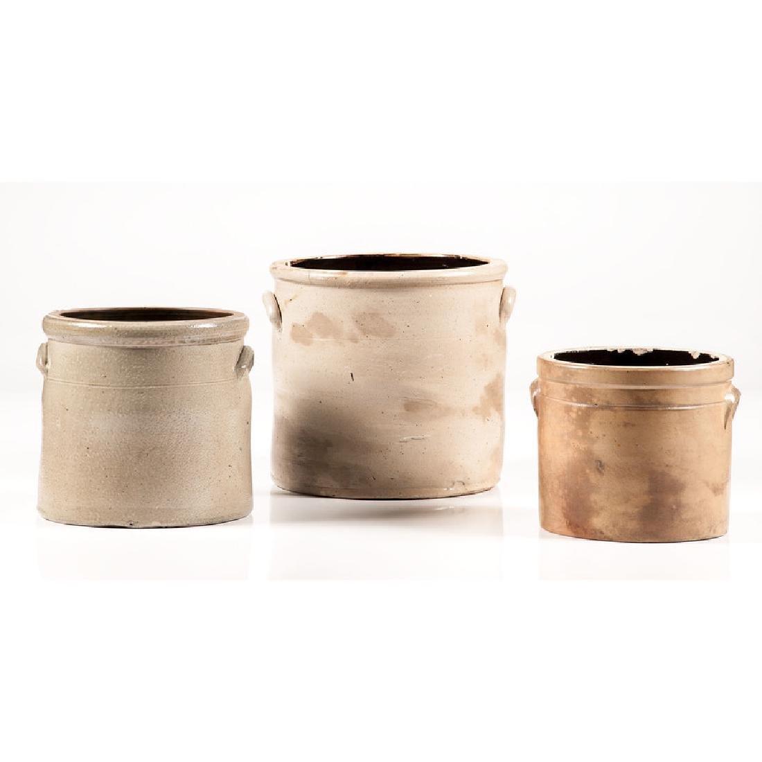 Stoneware Crocks with Bird Decoration - 3