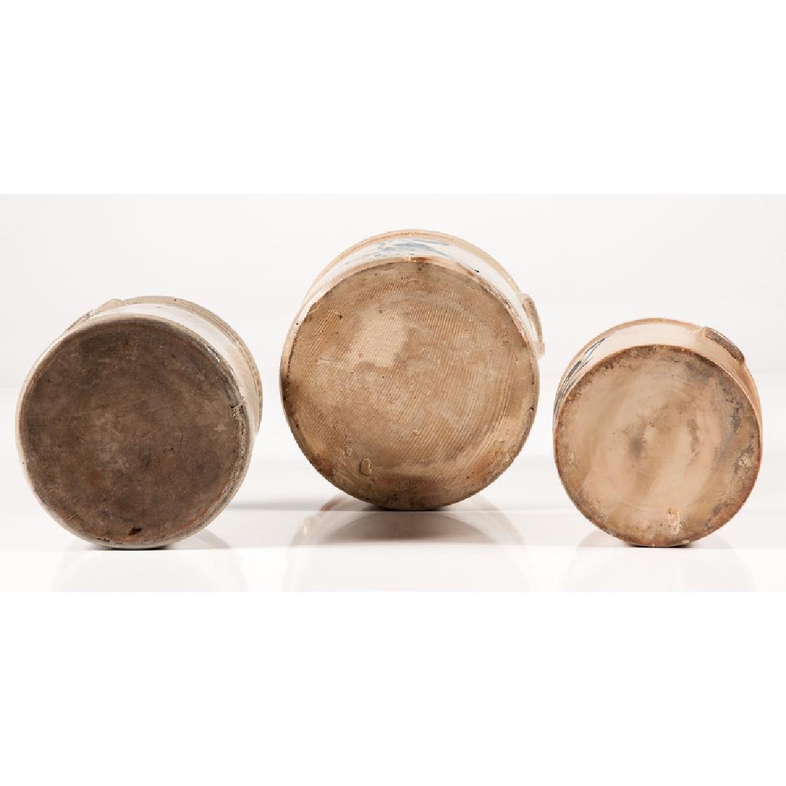 Stoneware Crocks with Bird Decoration - 6