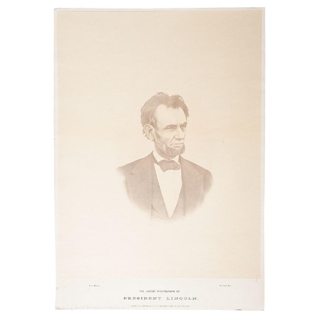 The Last Photograph of Abraham Lincoln, Large Format