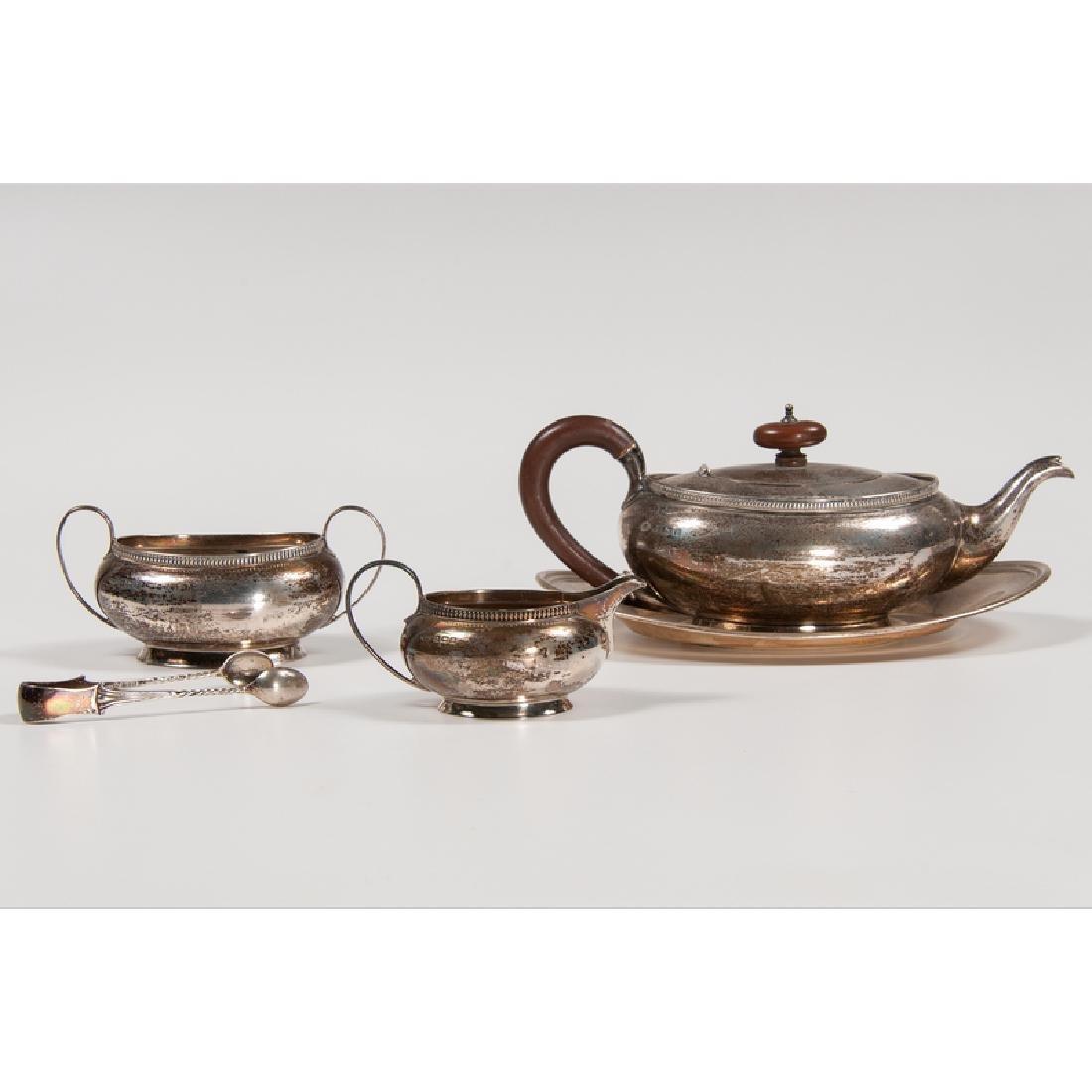 British Sterling Partial Tea Set, Plus - 2