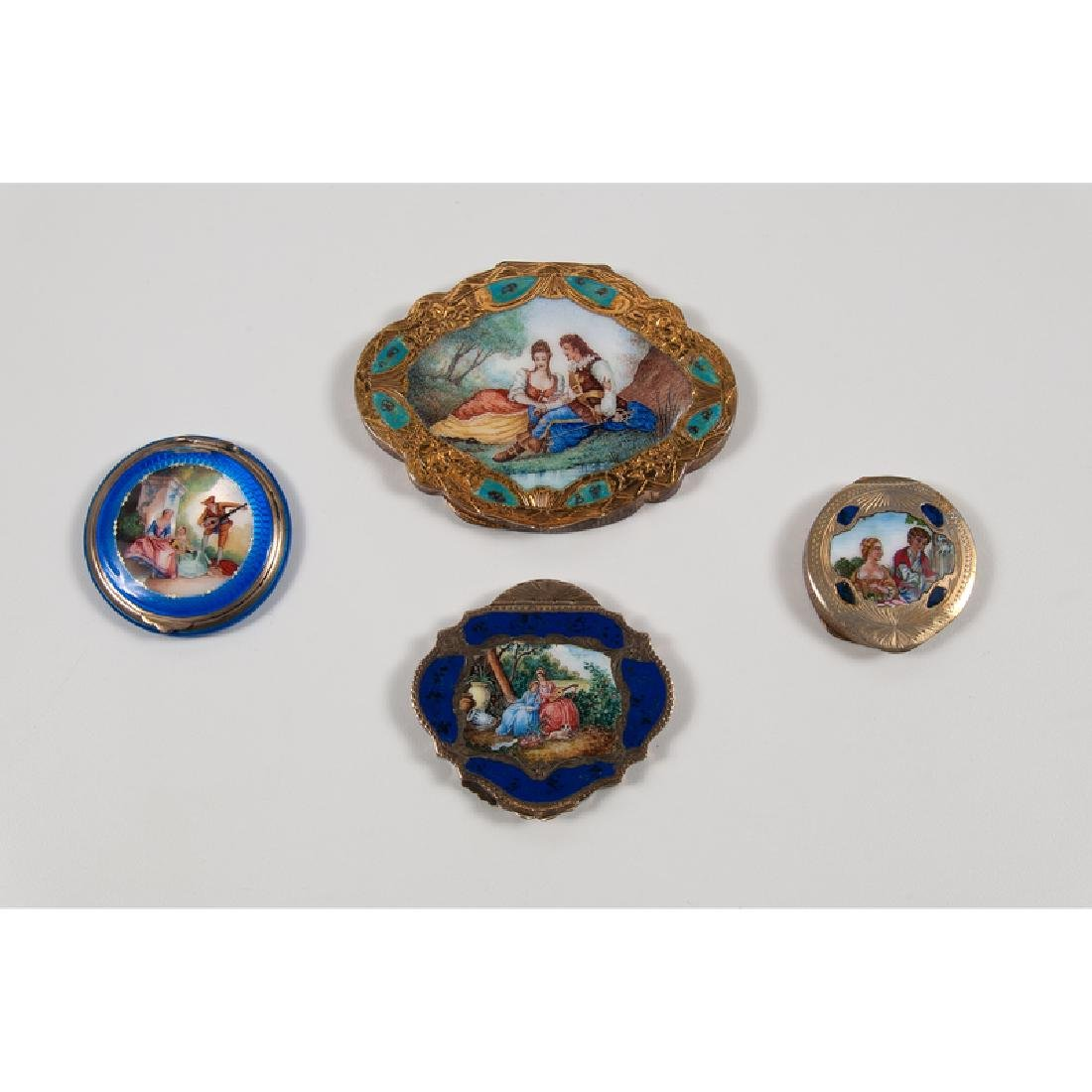 Painted Enamel Compacts