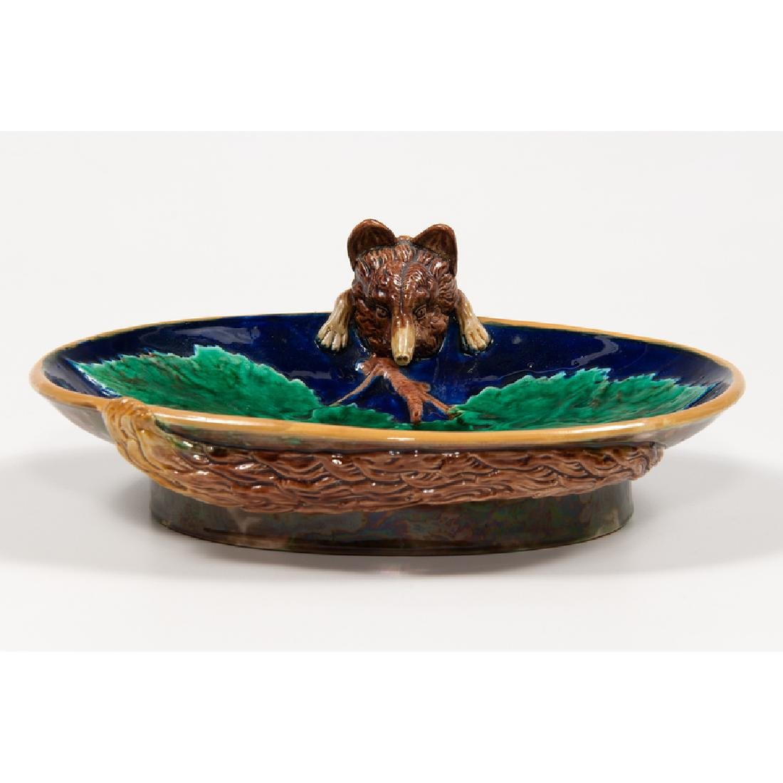 George Jones Majolica Serving Dish