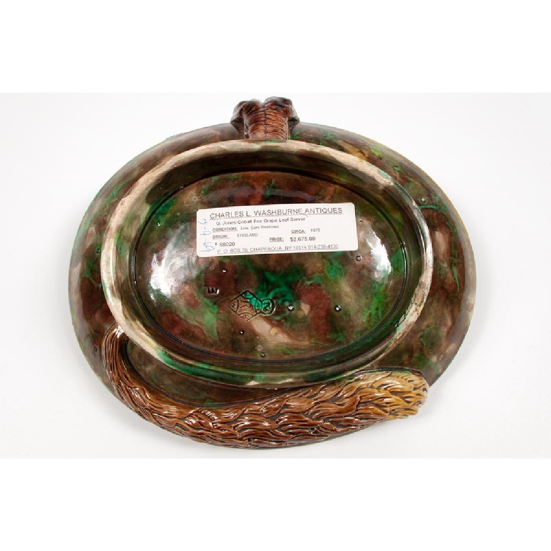 George Jones Majolica Serving Dish - 4