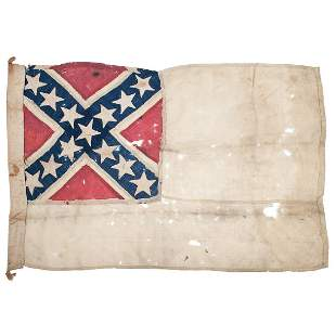 Rare Confederate Navy Flag Attributed to the CSS