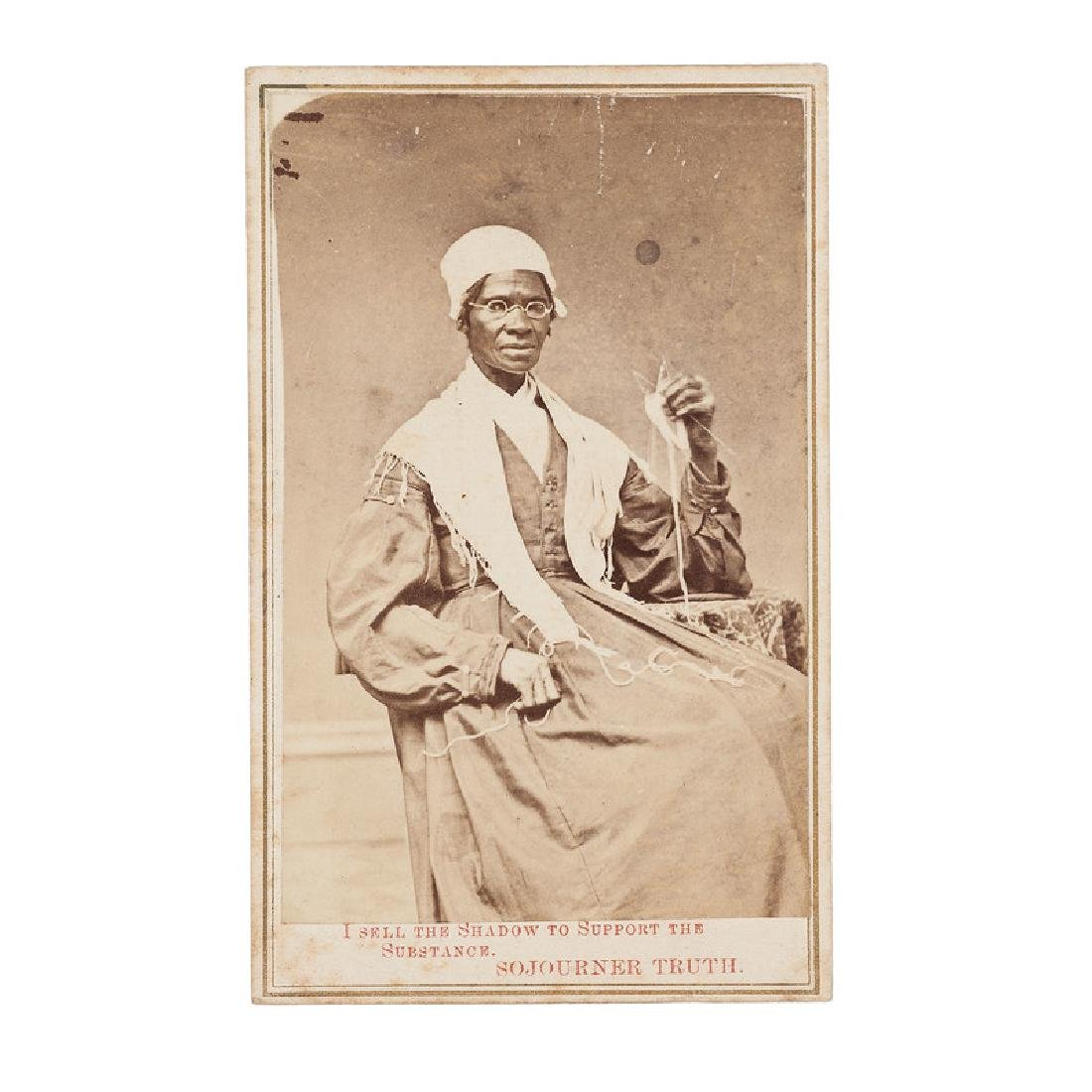 Sojourner Truth, Rare CDV