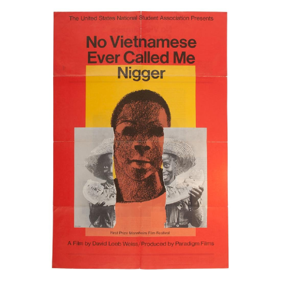 Milton Glaser 1968 Film Poster, No Vietnamese Ever