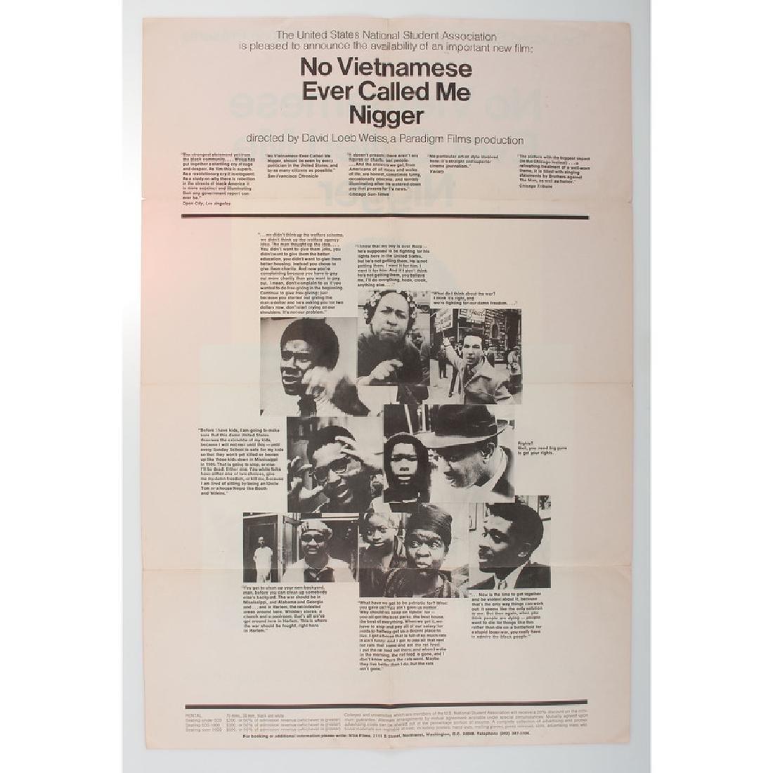 Milton Glaser 1968 Film Poster, No Vietnamese Ever - 2
