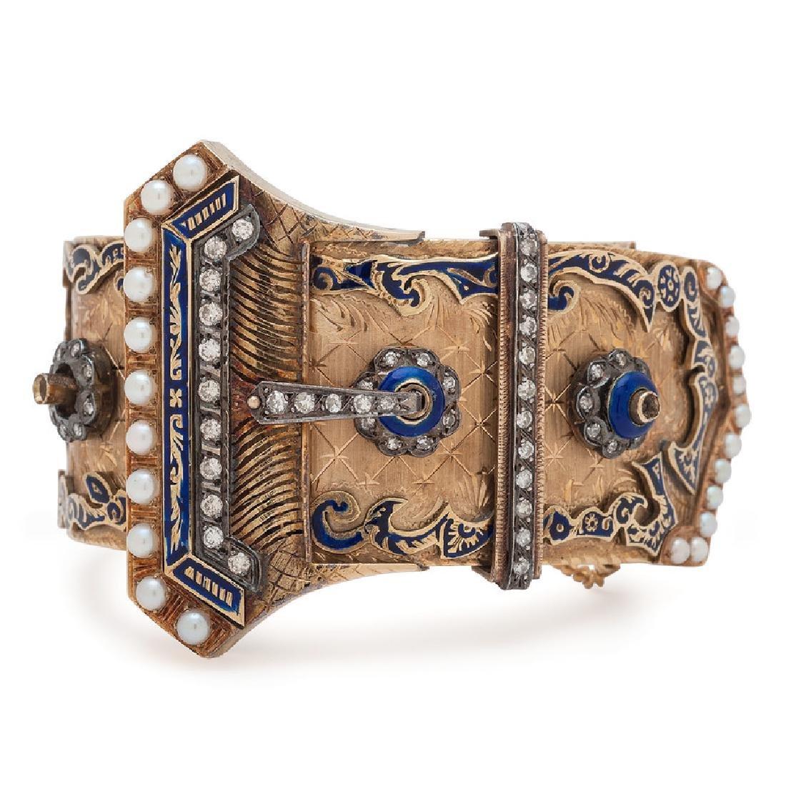 14 Karat Yellow Gold Buckle Bracelet