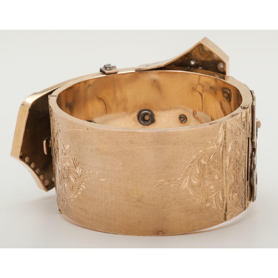 14 Karat Yellow Gold Buckle Bracelet - 2