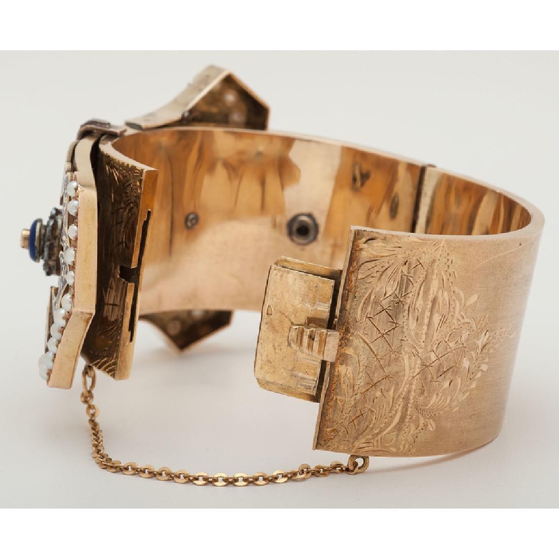 14 Karat Yellow Gold Buckle Bracelet - 5