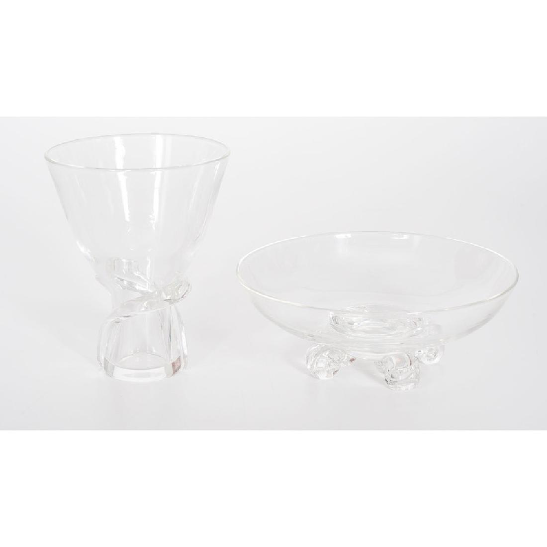Steuben Crystal Vase and Bowl